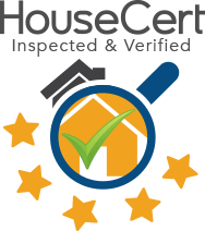 HouseCert Logo for Inspected and Verified Homes