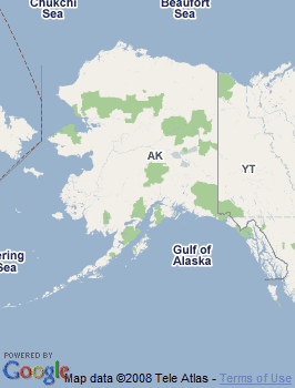 Map of Kodiak, AK