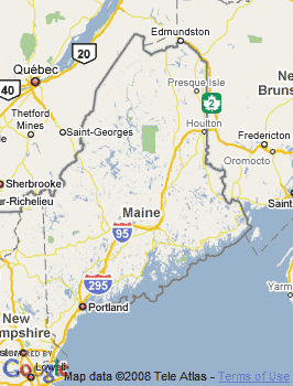 Map of Biddeford, ME