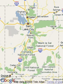 Map of Sandy City, UT