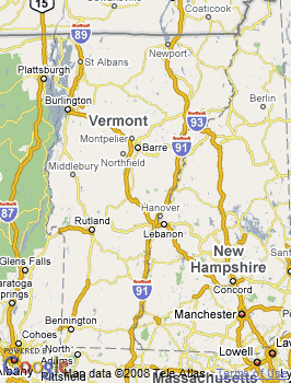 Map of Bennington, VT