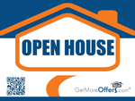 Open House Pointer Sign - click to enlarge