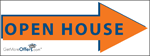 Open House Turn Pointer Sign - click to enlarge